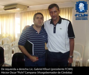 El presidente de la FCWK junto al Vicegobernador