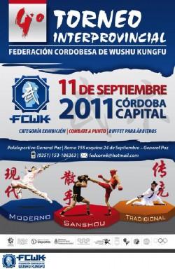 Afiche del 4º Torneo Interprovincial de la FCWK