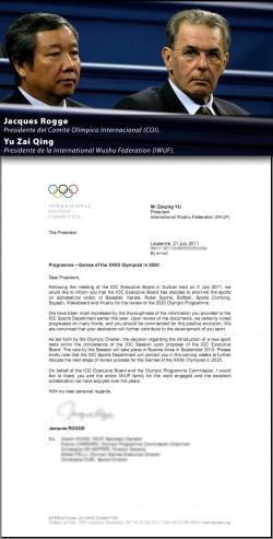 Wushu: candidato olímpico para el 2020